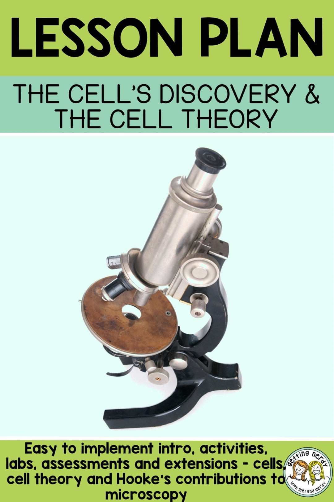 This is a great lesson plan to introduce cells, the cell theory and Hooke's contributions to the scientific micro-world. #gettingnerdyscience #microscope #lifesciencelessonplan