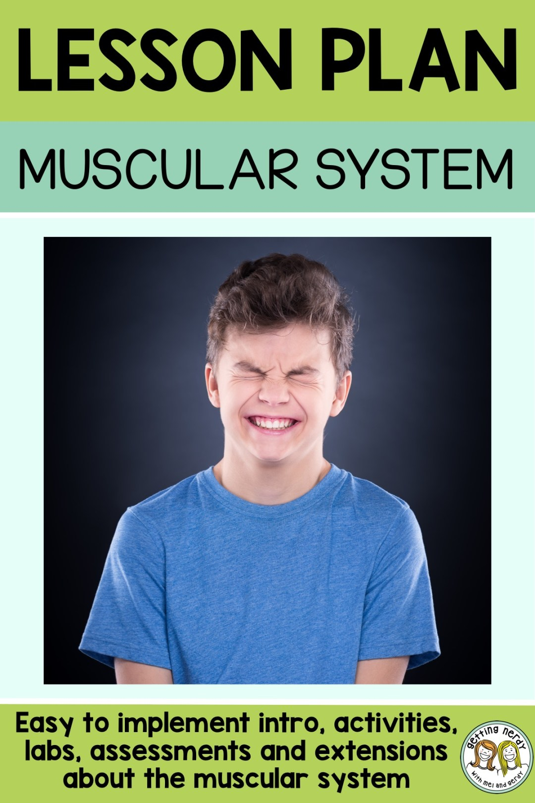 This a great lesson and lab for teaching about voluntary and involuntary muscle movement #gettingnerdyscience #sciencelessonplan #muscularsystem