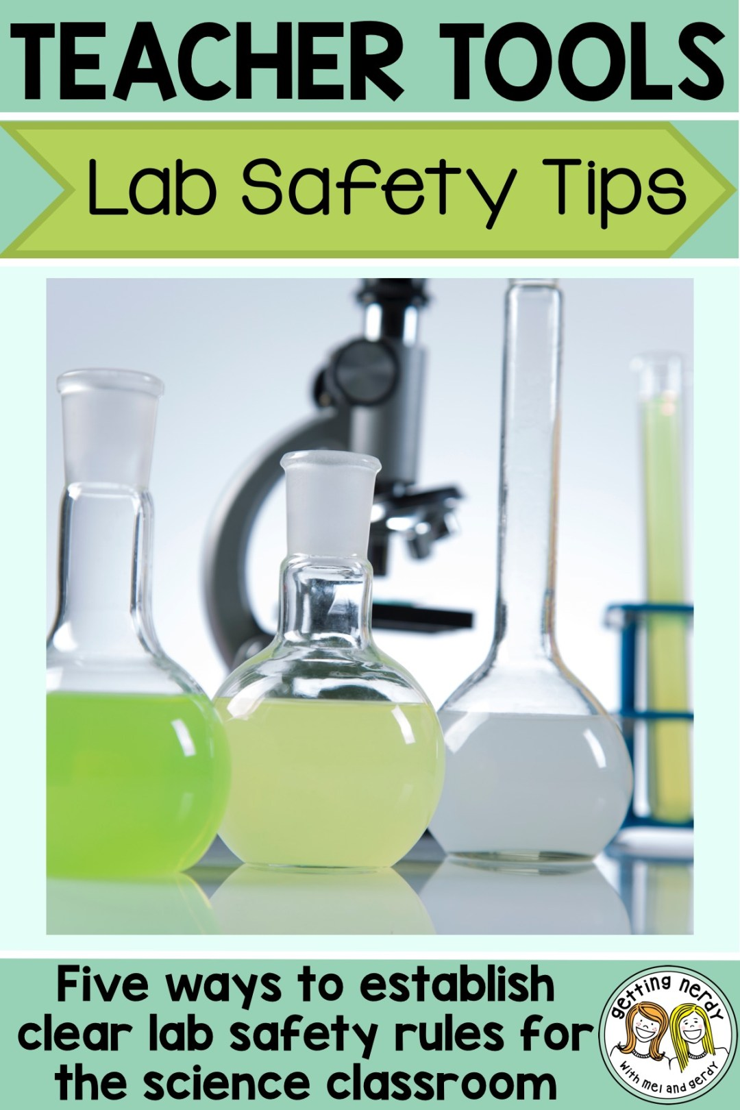 These lab safety tips will help keep the calm in your secondary science classroom #gettingnerdyscience #labsafety #lifescience