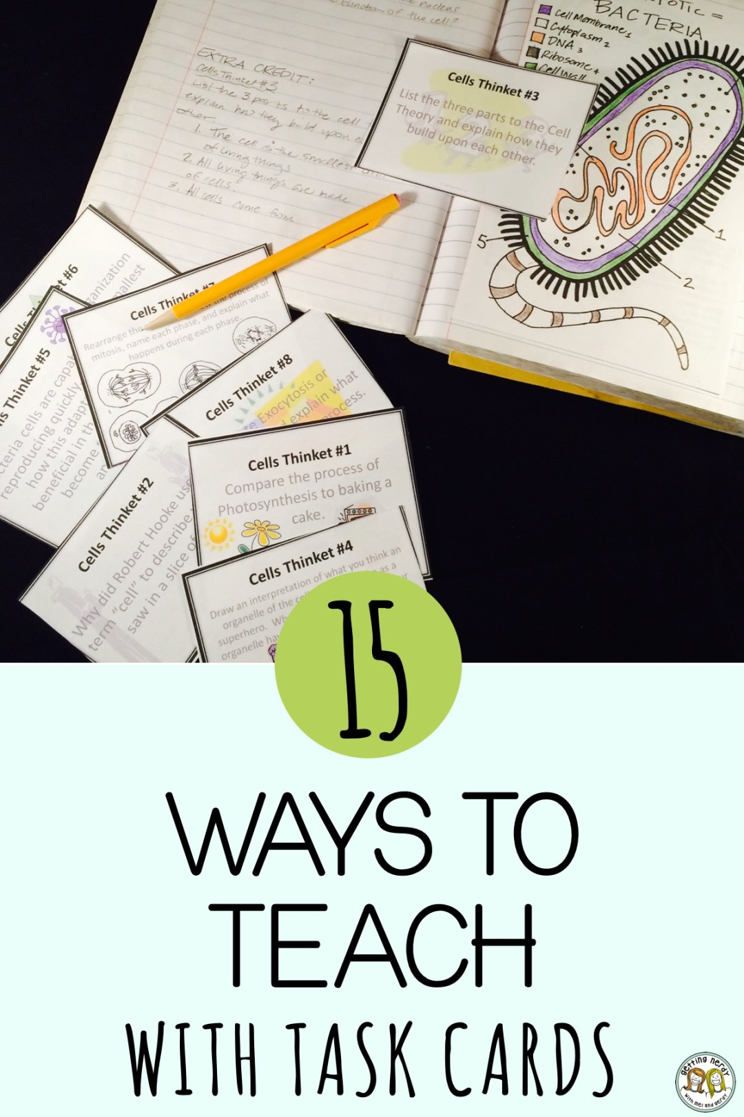 Use these 15 tips for incorporating task cards into your teaching #gettingnerdyscience #taskcards