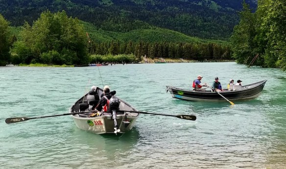 Russian River drift fishing on the Kenai Peninsula