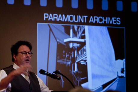 "Self-described ""hider and hoarder,"" archivist Randall Thropp regaled his audience with one story after another about Edith Head, her costumes, and the people who wore them."