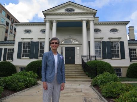 In front of Cincinnati's Taft Museum.
