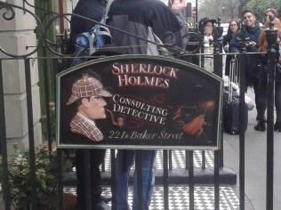 Beatles Store and Sherlock Holms Museum on Baker Street