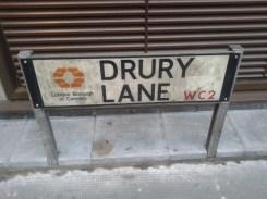 Drury Lane - street sign camden