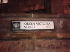 Queen Victoria St - sign