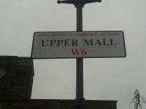 Upper Mall street sign