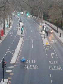 Victoria embankment - street view bike