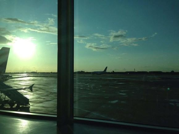 Heathrow sunset