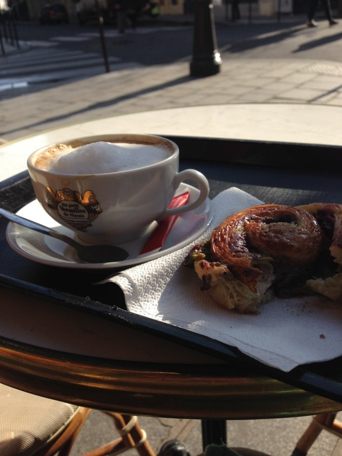 Second coffee and pastry of the day in Marais.
