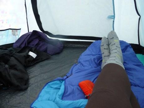 Dry feet, wonder tent.