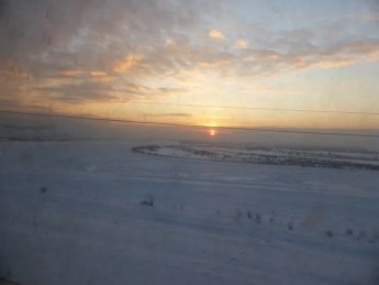 Last sunset on Russia (from the train, of course).