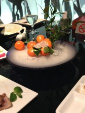 They even gave us free mandarins on dry ice
