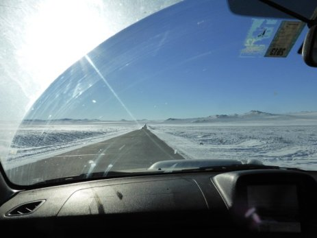 Driving through this amazingness