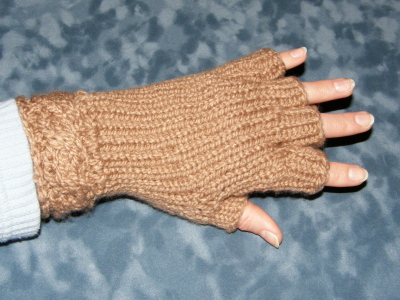 Half Fingered Cable Mitts!