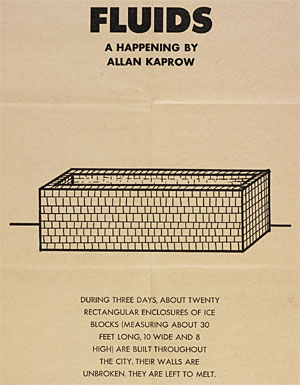 Allan Kaprow, Detail of a poster for Fluids (with score)