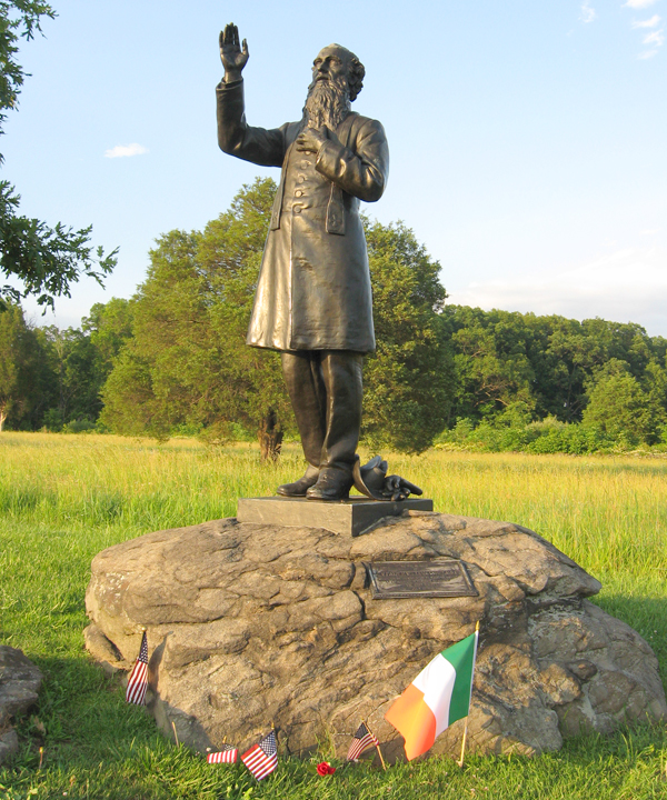 Image result for father william corby statue, gettysburg, photos