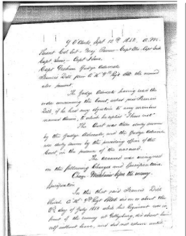 The Court-Martial Case of Private Francis Dill, Co. K, 9th Regt. P.R.C.