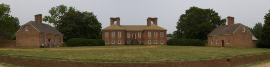 """Panoramic image made from five photos taken Aug 2007 at Stratford Hall Plantation and merged together with AutoStitch,"" original uploader MamaGeek. http://commons.wikimedia.org/wiki/File:StratfordHallPlantationPano.jpg"