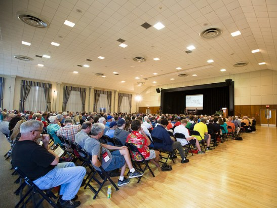 Attendees at the 2014 CWI Summer Conference. Photo credit to the author.