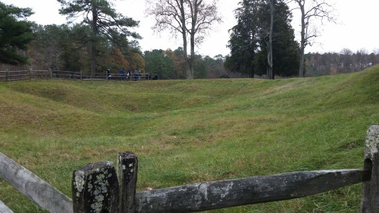 The Crater at Petersburg National Battlefield. Photo credit to the author.
