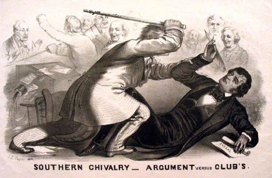 "John L. Magee, ""Preston Brooks' 1856 Attack on Sumner."" Wikimedia Commons."