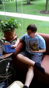 As a Pohanka intern at Seminary Ridge Museum, Kyle Schrader is spending his summer researching antebellum spiritualism. Photo credit Kyle Schrader.