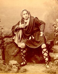 Edwin Booth as Hamlet in 1864. Via Wikimedia Commons.