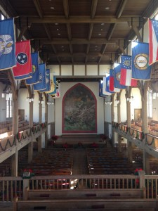Inside Jackson Memorial Hall. Photo courtesy of the author.