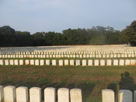 The largest section of Union burials in the National Cemetery located at Andersonville National Historic Site. Photo courtesy of the author.