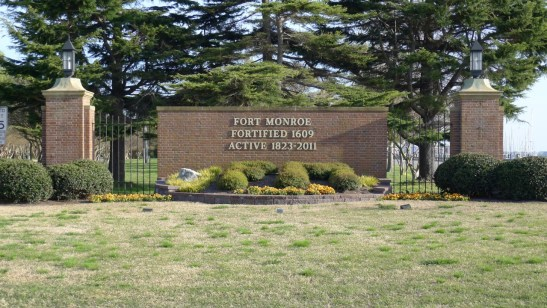 Fort Monroe was fortified in 1609 and remained an active army base from 1823-2011. Photo courtesy of the author.