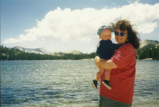 The author and his mother at Tenaya Lake. Photo courtesy of Ken Lauck.