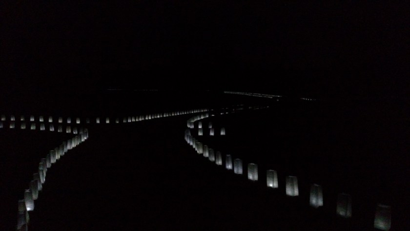 Road and luminaries