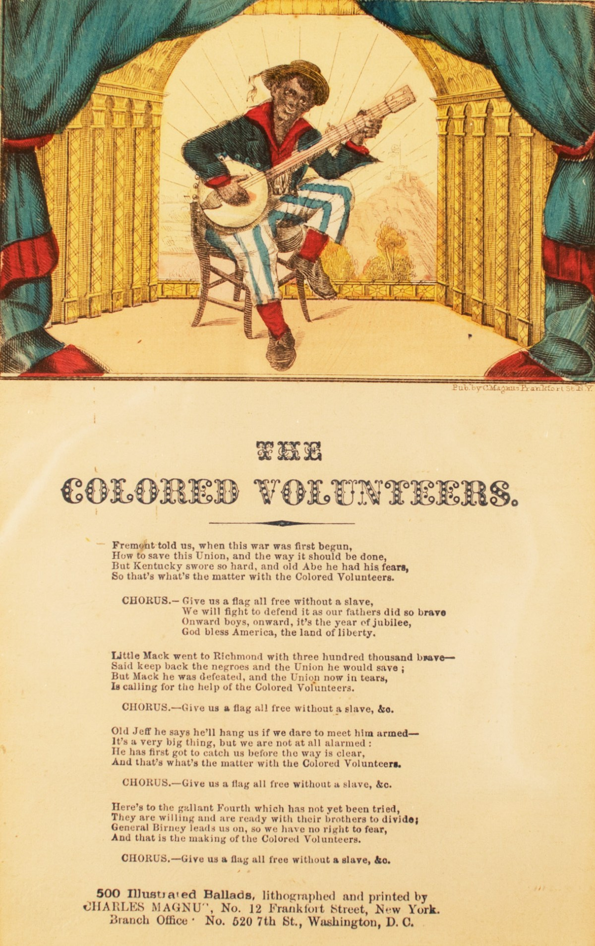 """The Colored Volunteers"":  A Recruiting Tune for the USCT"
