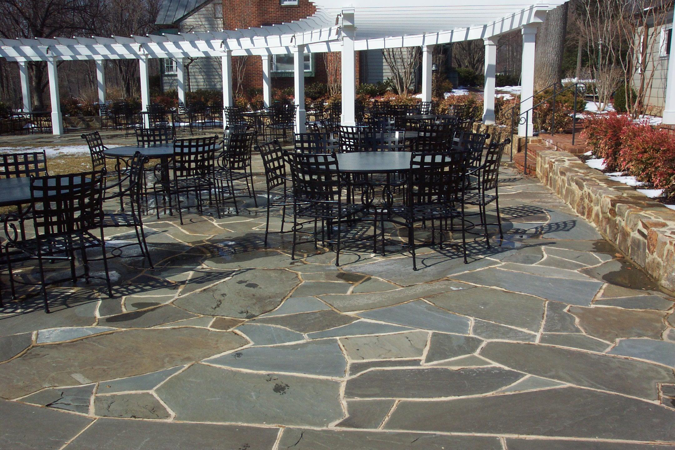 irregular flagstone patio gettysburg