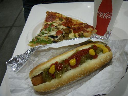 コストコのピザとホットドッグ