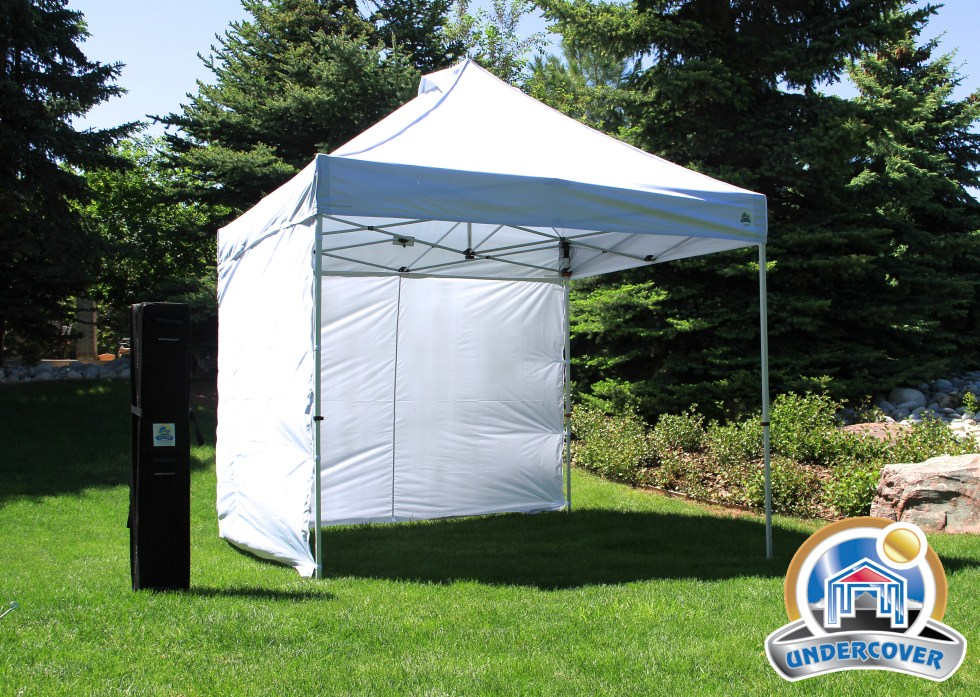 10'X10' COMMERCIAL Instant Canopy, Wall Enclosure & Wheel-Bag