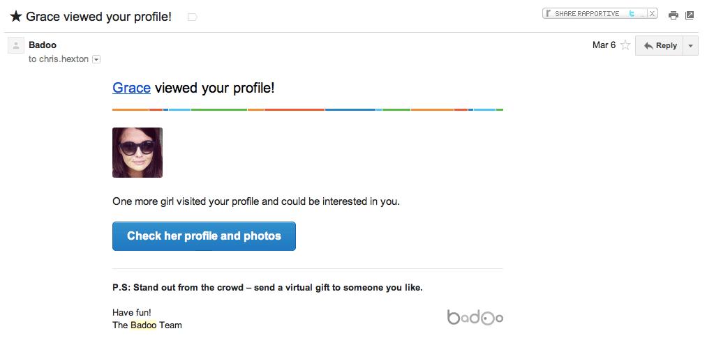 Badoo Retention Email