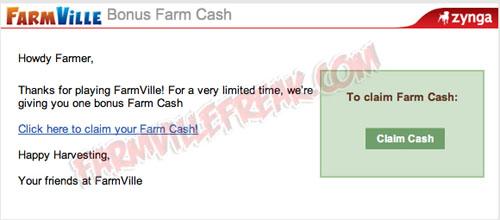 Claim Free Cash Zynga