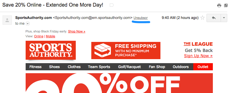 sports_authority_unsubscribe