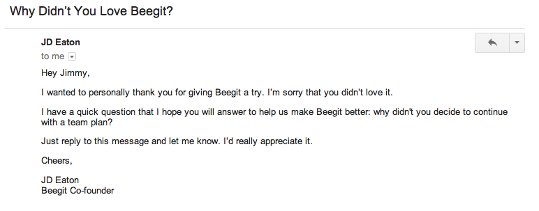 beegit personal email