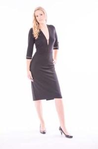Black Heavy Jersey Dress