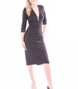 Knee Length Midi with Half Sleeve