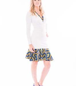 Long Sleeve Knee Length with Printed Trim
