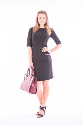 Half Sleeve Knee Length Dress