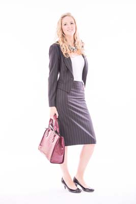 2 Piece Pinstripe Suit