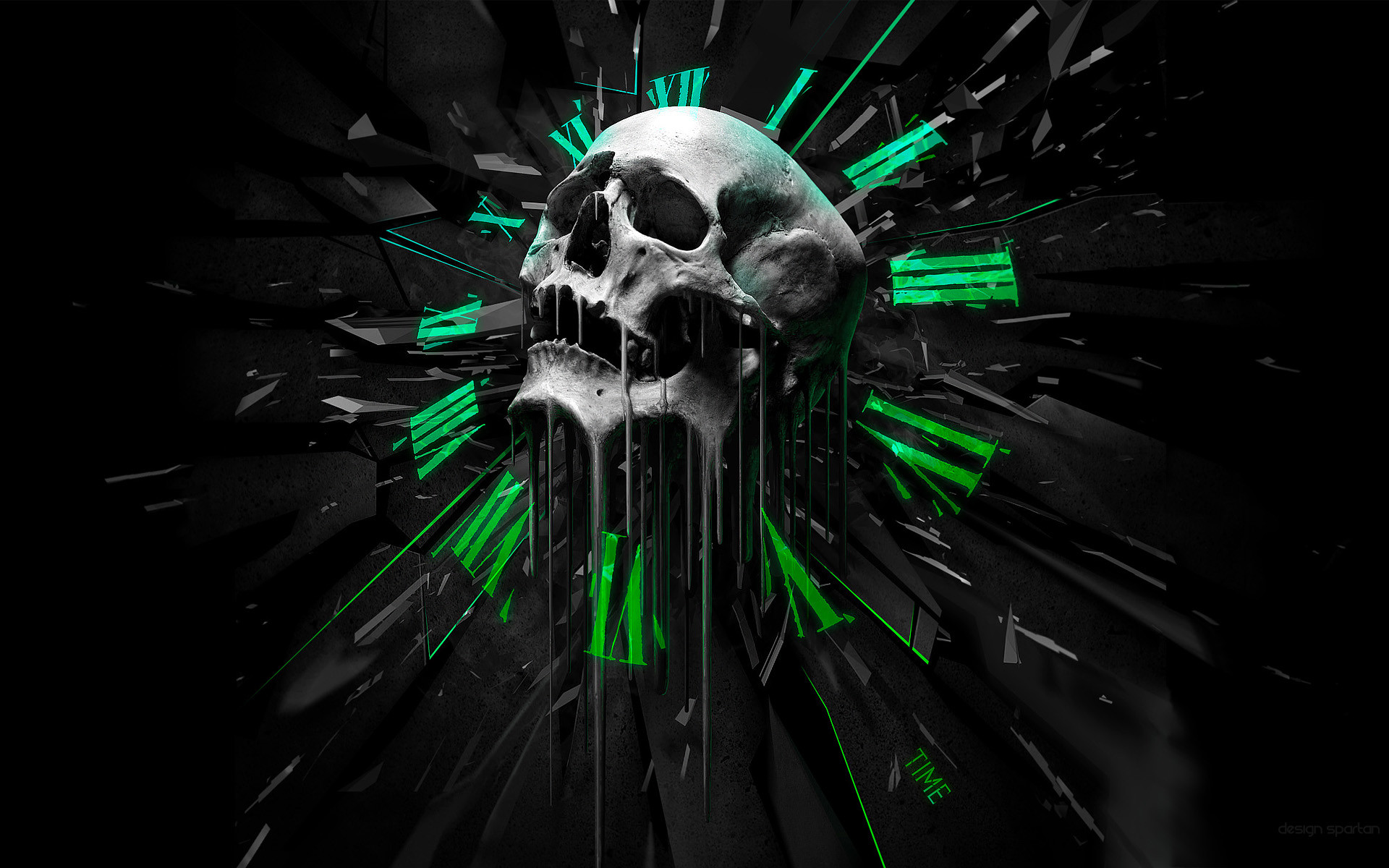 Badass Wallpapers of Skulls  61  images  1920x1200 Time skull     meh ro