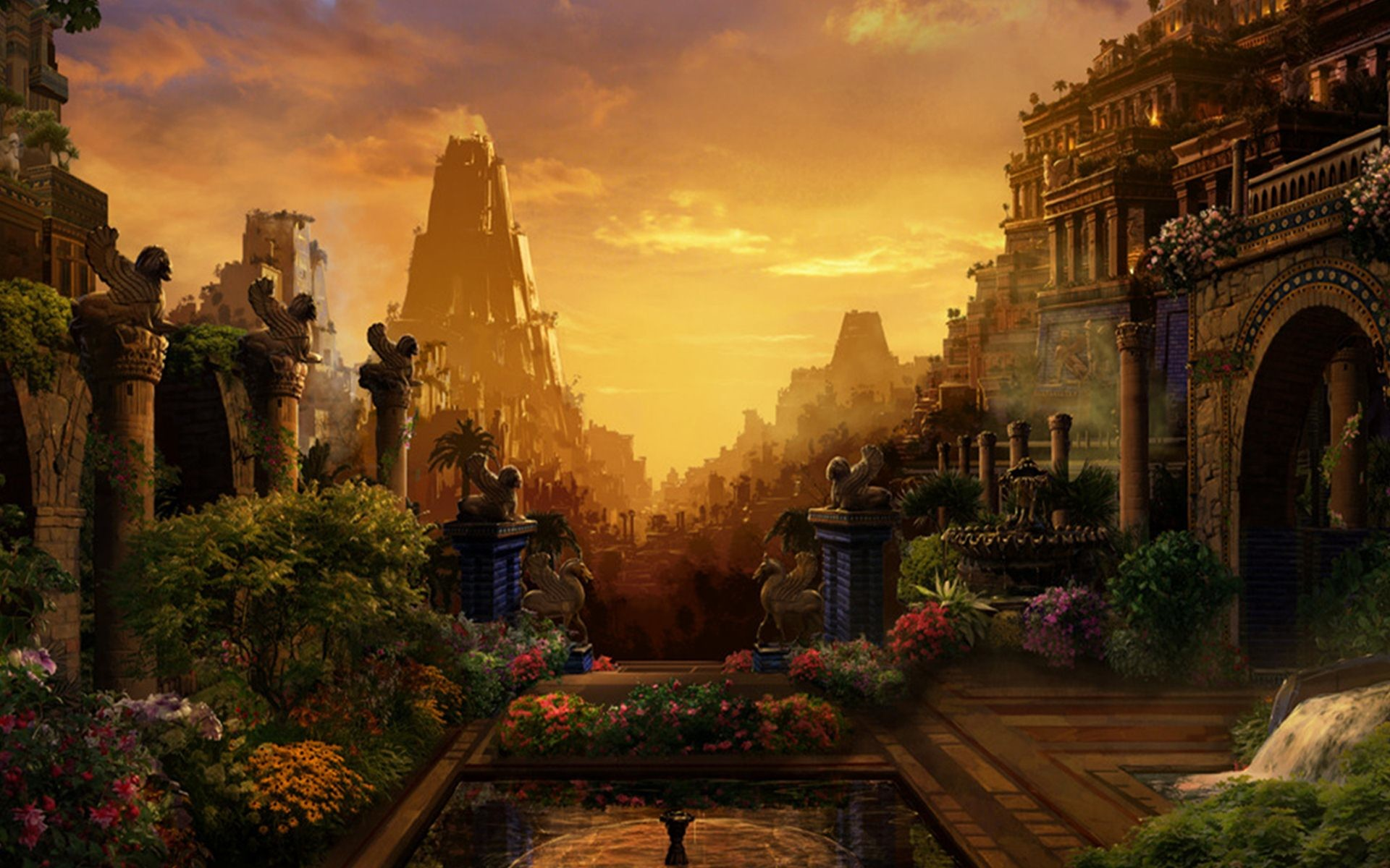 Hanging Gardens Of Babylon Wallpaper 47 Images
