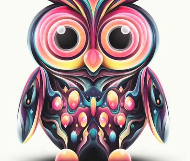 Cute Girly Owls Wallpaper