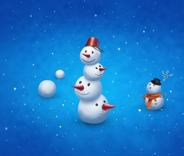 X Snowman Wallpapers Background Images Wallpaper Desktop